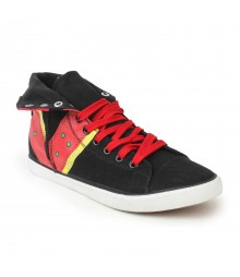 Vostro Black Red Casual Shoes for Men - VCS0147